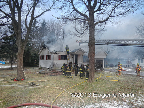 house fire in Bensenville 2-12-13