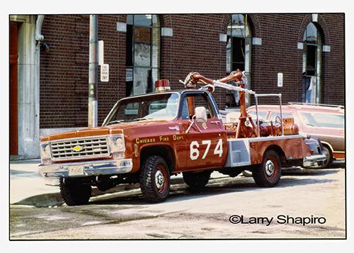 Chicago Fire Department turret wagon deluge wagon