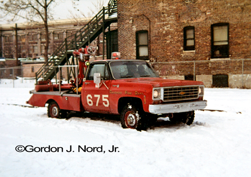 Chicago Fire Department Turret Wagon 6-7-5