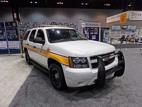 Illinois State Police SUV  at the Chicago Auto Show