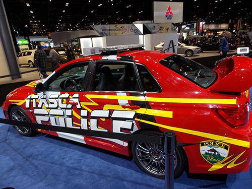 Itasca Police car  at the Chicago Auto Show