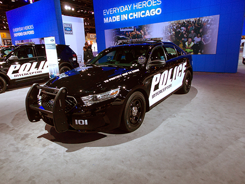 Ford police car  at the Chicago Auto Show