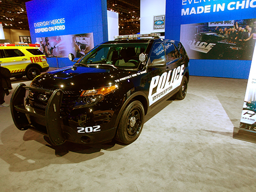 police SUV at the Chicago Auto Show