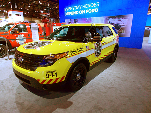 battalion chief sub at the Chicago Auto show