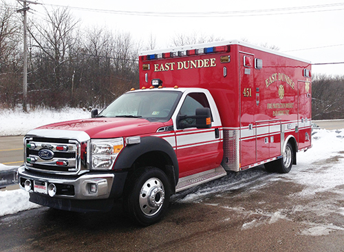new Medtec ambulance for East Dundee FPD