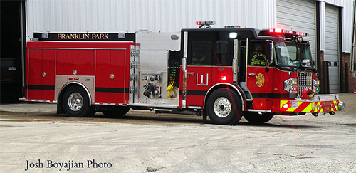 new fire engine for Franklin Park