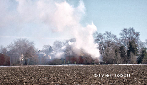 Barn fire in Marengo 2-17-13