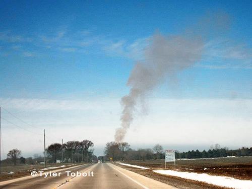 Barn fire in Marengo 2-17-13