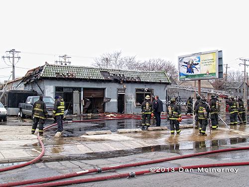 auto repair shop fire in Chicago
