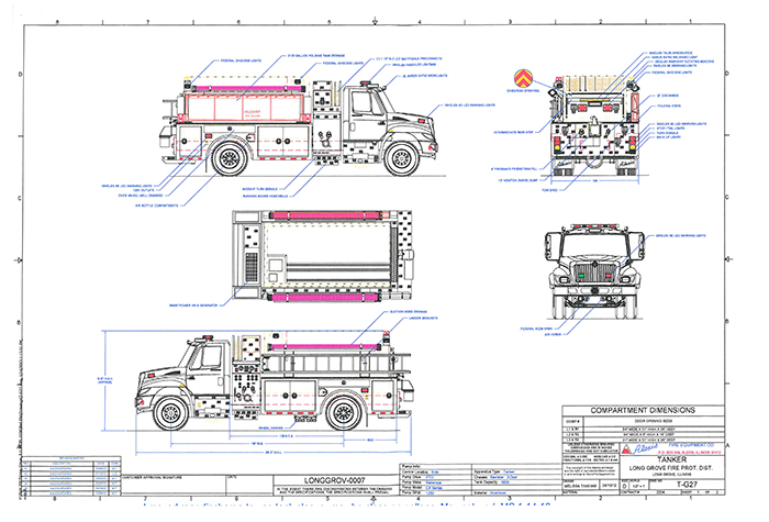 drawings of Long Grove FPD tanker