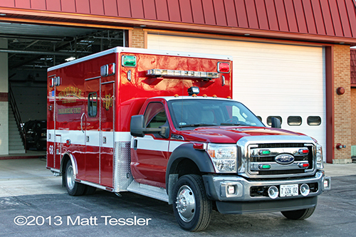 new ambulance for Wood Dale FD
