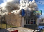 commercial building fire in Chicago
