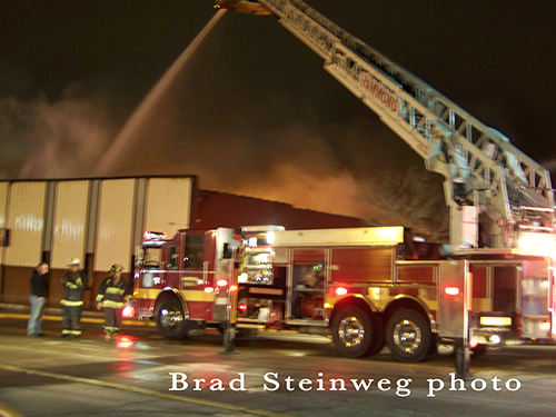 big fire in East Chicago IN