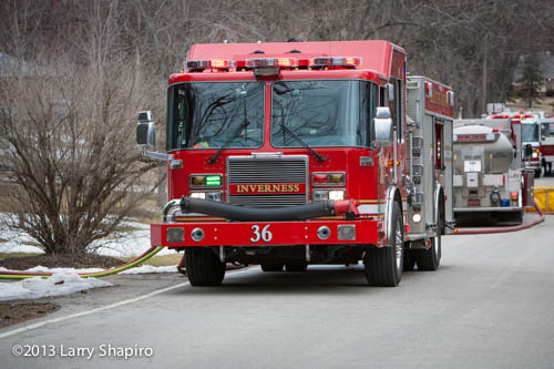 Palatine Rural FPD Engine 36 at a fire scene