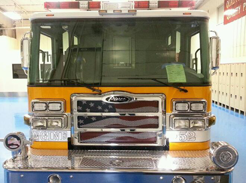 new Pierce engine for Lisle Woodridge FPD