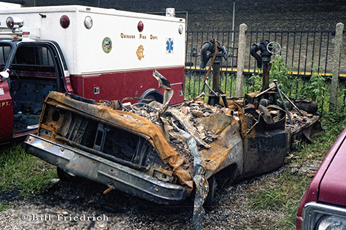 Chicago FD Turret Wagon 6-7-4 destroyed at a fire