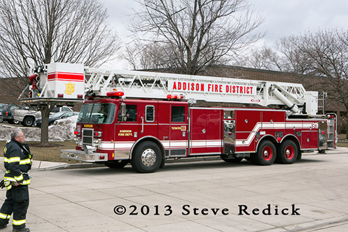 Addison FIre District Tower Ladder
