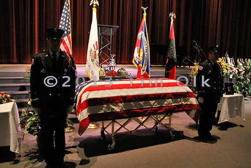 funeral for Bloomington IL Firefighter Christopher Brown