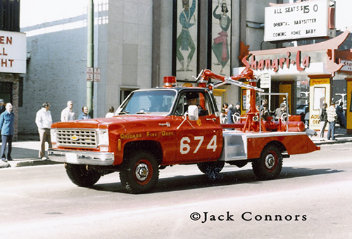 Chicago FD Turret Wagon 674 6-7-4