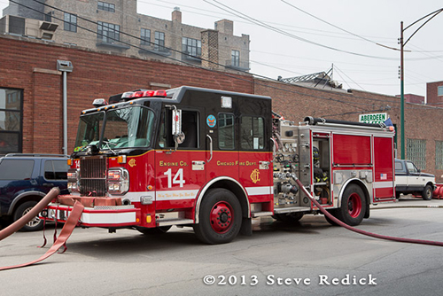 Chicago FD Engine 14 Spartan Crimson