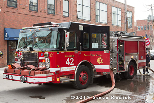 Chicago FD Engine 42 Spartan Crimson