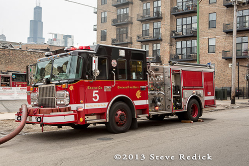 Chicago FD Engine 5 Spartan Crimson