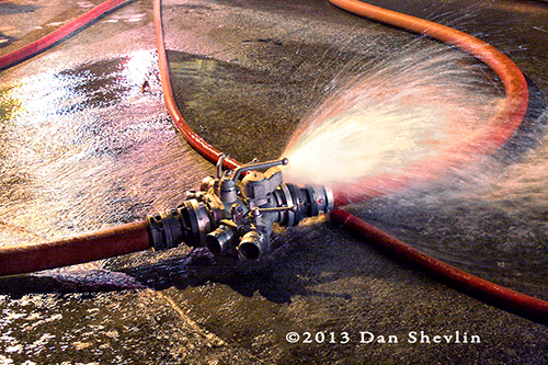 fire department hose in the street