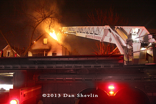 Chicago house fire 3-27-13 on south Wolcott