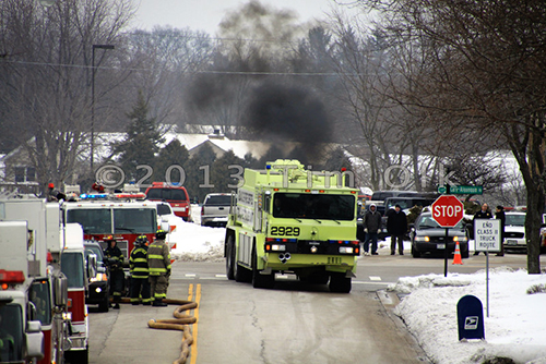 industrial explosion and haz mat in Cary IL