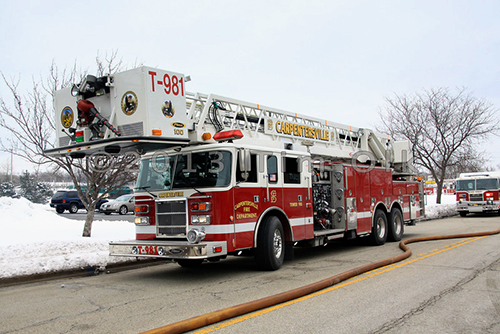 Carpentersville FD tower ladder