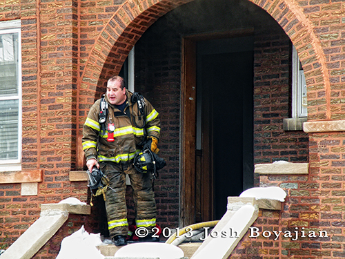 house fire in Berwyn 3-7-13 fire department firefighters