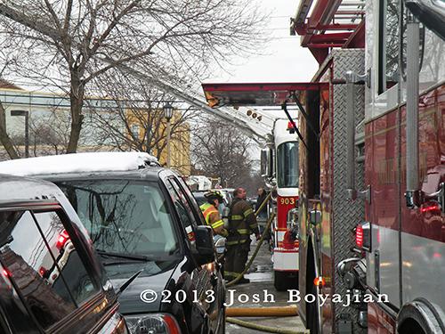 house fire in Berwyn 3-7-13 fire department firefighters