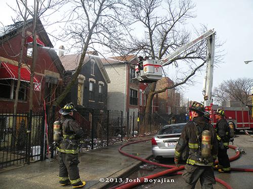 Chicago Squad 1 at fire scene