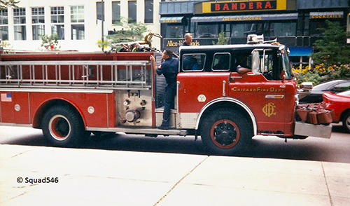 Chicago FD Ford E-ONE engine