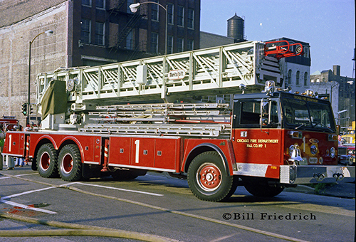 135 Aerial Ladder For The Chicago Fire Department