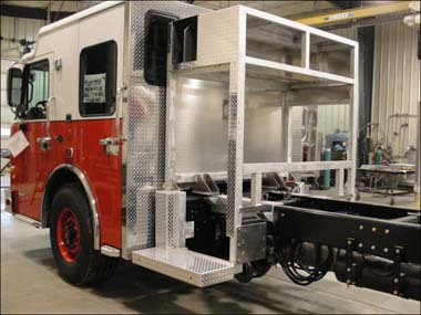 fire engine being built for the Elburn FPD
