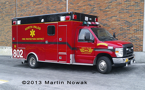 North Palos FPD Ambulance 802
