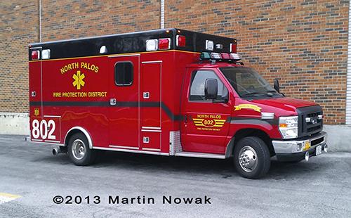 North Palos FPD Ambulance 802