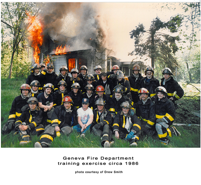 group shot of firefighters