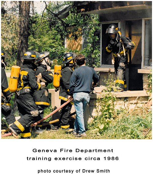 Geneva Fire Department training exercise circa 1986