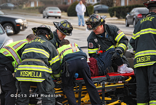 multiple vehicle accident in Skokie 3-17-13