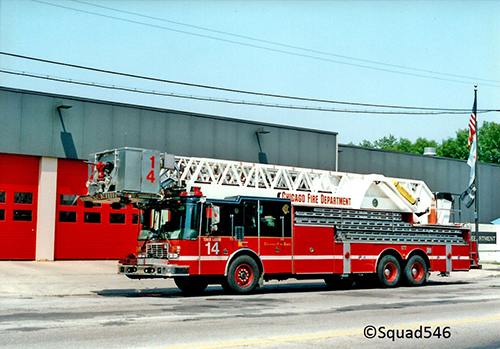 Chicago FD Tower Ladder 14 HME LTI