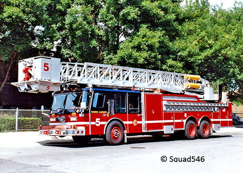 Chicago FD E-ONE tower ladder
