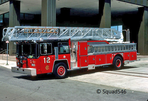 Chicago FD Truck 12 Hendrickson E-ONE