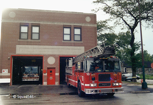 Chicago FD Truck 18 Seagrave aerial