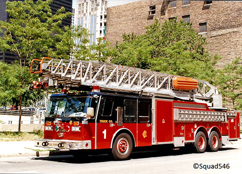 Chicago Fire Department 135' aerial ladder Truck 1