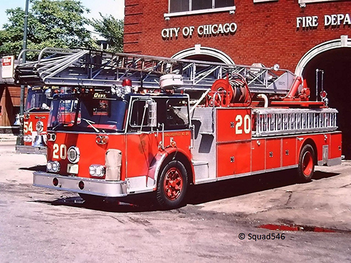 Chicago FD Truck 20 Seagrave aerial