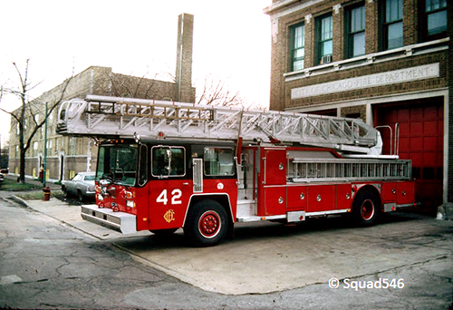 Chicago FD Truck 42 Hendrickson E-ONE