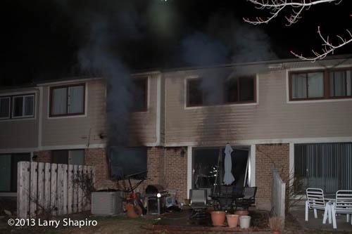 smoke at house fire