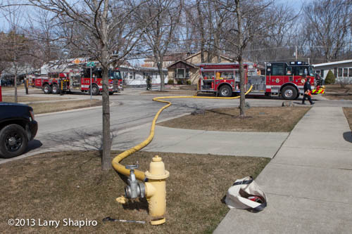 house fire in Glenview on Maple Street